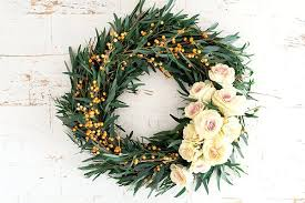 fresh wreaths fresh wreaths wreath with fresh greens and roses