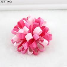 ribbon hair bands 1 pc kids loopy puffs hairropes ribbon hair bow hairbands