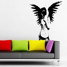 28 gothic wall stickers wall sticker vinyl decal scary gothic wall stickers gothic angel wall stickers by parkins interiors