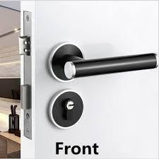 serrure chambre moderne simple muet mécanique split chambre serrure de porte noir