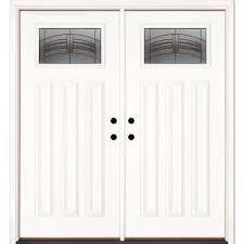 Prehung Steel Exterior Doors Craftsman Doors With Glass Fiberglass Doors The Home Depot