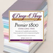 Extra Long Twin Bed Sheets Twin Xl Extra Long Dorm Hospital Bed Sheets Deep Sleep 1800