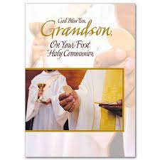 god bless you grandson on your holy communion
