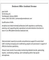 Senior Administrative Assistant Resume Sample by 50 Business Resume Examples Free U0026 Premium Templates