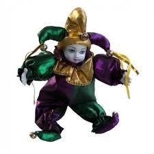 mardi gras doll 18 doll w stand