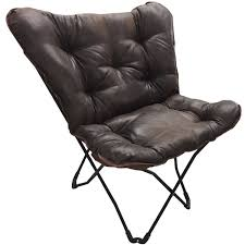 faux leather butterfly chair ebay