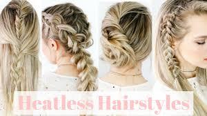 heatless hairstyles for thin hair heatless hairstyles on straight hair kayleymelissa youtube
