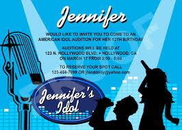 Hollywood Invitation Card Invitation Wording For Karaoke Party Invitation Ideas