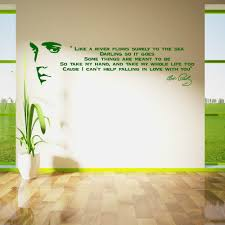 compare prices decals custom online shopping buy low price elvis presley song lyrics like river vinyl wall art sticker room decal customize color available