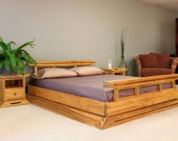 Wooden Bed Frame Double by King Bed Frame Etsy