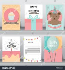 Size Invitation Card Happy Birthday Baby Shower Greeting Invitation Stock Vector