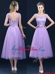 see through applique and belt bridesmaid dress in tulle