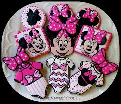 photo minnie mouse baby shower cupcakes image