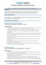 resume template financial accountants definition of respect business operations analyst resume sles qwikresume
