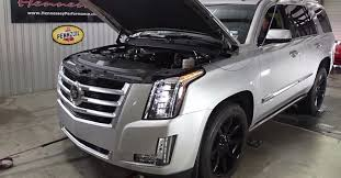 cadillac escalade with black rims hennessey supercharges the 2015 cadillac escalade gm