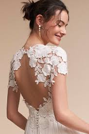 backless wedding dresses backless wedding dresses low back wedding gowns bhldn