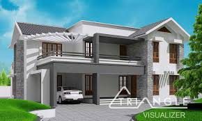 kerala sloping roof contemporary house design at 2300 sq ft