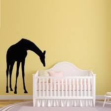 giraffe silhouette cute nursery baby room wall decal happy walls giraffe silhouette cute nursery baby room wall decal