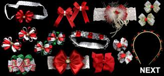 christmas hair bows babybows christmas hair bows