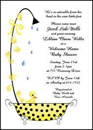 welcome home baby shower baby welcome home shower duckling in a bathtub party invitations