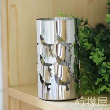 Buy Vase Mirror Column Type Stainless Steel Vase Home Furnishing Jewelry
