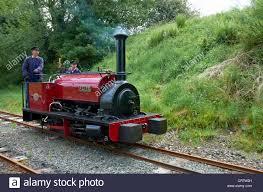 bala lake railway engine running round its train loco alice is an