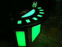 Black Jack Table by Casino Parties With Lighted Tables Lighted Poker Tables