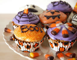 goddess of baking spiced pumpkin cupcakes for halloween