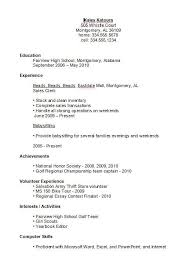 Best Resume S Good High Resumes Best Resume Collection