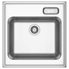 boholmen single bowl sink stainless steel 60x63 5 cm ikea