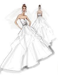 jennifer aniston wedding dress sketch by galia lahav click on