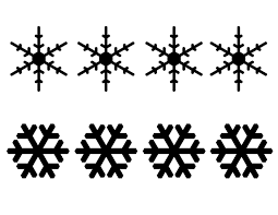 10 best images of chocolate snowflake template printable white