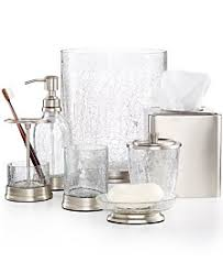 Clear Bathroom Accessories by Paradigm Bathroom Accessories And Sets Macy U0027s