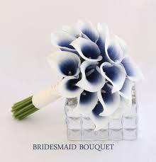 Wedding Flowers Blue Navy Wedding Flowers Bridesmaid Bouquet Navy Blue By Bestforbrides