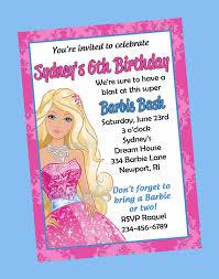free print barbie invitations birthday invitations printable and
