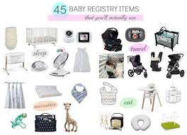 baby registery 45 baby registry must haves did what
