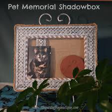 create a pet memorial shadowbox the garden frog boutique
