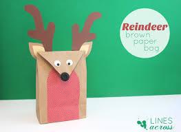 reindeer brown paper bag lines across