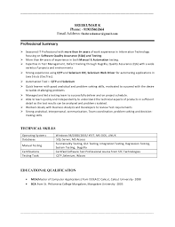 Resume For Software Testing Experience Sreekumar 6 Years Qa Manual Automationqtp Tester Resume