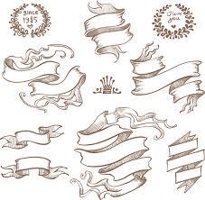 retro ribbon with ornaments vector 04 welovesolo