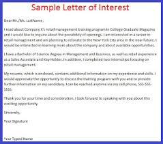 job application letter example job application letter of interest