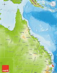 map of queensland physical map of queensland