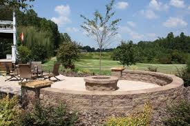 retaining wall designdeas patio space decorated with completed