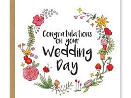 wedding day congratulations greeting card for wedding wedding card congratulations on your