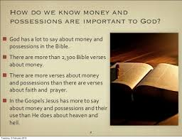wealth eternity 1 money possessions important god