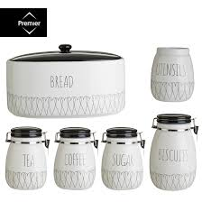 buy kitchen canisters heartlines tea coffee sugar canister bread bin biscuit utensit