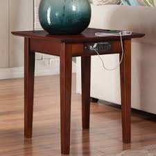 chairside table with charging station charging station end table wayfair