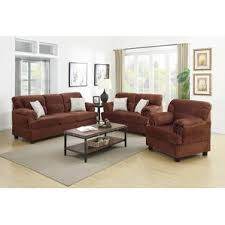 Microfiber Living Room Sets Youll Love Wayfair - Three piece living room set