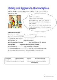 2 free esl kitchen safety worksheets