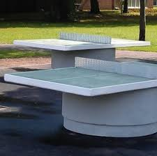 Outdoor Tennis Table Concrete Table Tennistables